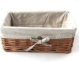 KINGWILLOW Storage Basket Natural Wicker Storage Bins Rectangular BasketArts and Crafts.