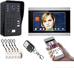 Tuya Wifi Video Deurbel, 7 Inch Video Deurtelefoon Systeem, Intercom, Nachtzicht Camera + Monitor, Vingerafdruk Wachtwoord...