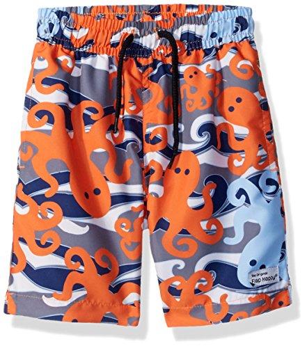 Flap Happy Baby-Jungen UPF 50+ Boys Swim Trunk W/Mesh Liner Badehose, Otto Oktopus, 18M US