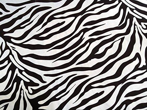 PRESTIGE tejidos cebra con estampado Animal para Nochevieja poliéster banderines decorativos para cupcakes e instrucciones para hacer vestidos de cama crafts costura deco tela - por metro