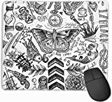 N/A One Direction Tattoos Gaming Mouse Pad Non-Slip Rubber Mousepad for Computers Desktops Laptop Mouse Mat
