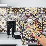 20 Pezzi Di Adesivi Decorativi Per Piastrelle Da Parete, Impermeabile Adesivi in PVC Decorazioni Piastrelle in Vinile Bagno e Cucina Stickers Design Adesivi Murali (20*20cm)