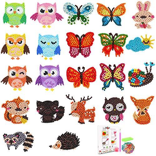 22 stuks Diamond Painting Stickers 5D Diamond Painting Stickers Kits voor DIY Art Craft Animal Butterfly Painting with…