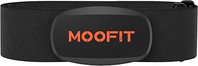 moofit ANT+ Heart Rate Monitor with Chest Strap Bluetooth HR Sensor IPX7 Waterproof Compatible with Zwift, Rouvy, TRX, Eli...