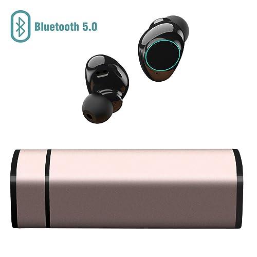 Muzili Auriculares Bluetooth, Inalámbrico Bluetooth Auriculares con Cancelación de Ruido Pantalla Táctil IP65 Auriculares con