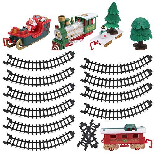 TOYANDONA 1 Juego de Juguetes de Tren de Navidad Alrededor del Árbol...