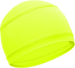 Cooling Skull Cap for Men - Sweat-Wicking Helmet Liner for Running & Cycling - Under Helmet & Hard Hat Liner Accessory - Breathable & Quick-Drying Thin Sports Beanie Caps - UPF 50 Sun Protection