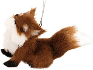 Red Brown Sitting Fox 1.5 Inch Resin Decorative Holiday Ornament