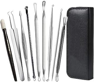 Yolistar 9 st professionella pormaskar ans-borttagningsverktyg, komedonextraktorpincett, ta bort pimple Spot-popper från a...