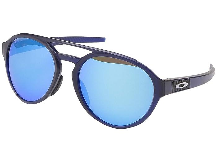 Oakley Forager (Matte Transparent Blue w/ PRIZM Sapphire Polarized) Fashion Sunglasses