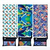 Elite Trend Microfiber Beach Towel for Travel:Oversized XL 78 x 35, 63x63,71x31Inch Quick Drying, Lightweight, Fast Dry Shower & Body Towels, Sand Free (Flamingo, Extra Large (78X35-INCH))