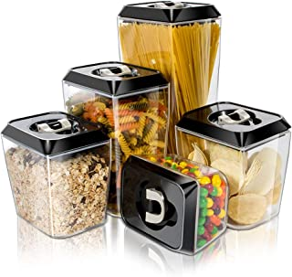 Masthome 5 PCS Food Storage Containers with Airtight Lids, BPA Free Pantry Durable Seal Pot