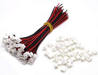 daier 20 Sets Mini Micro Jst 2.0 Ph 2-Pin Connector Plug Male with 150mm Cable & Female