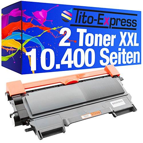 PlatinumSerie® 2x cartucho de tóner compatible con Brother TN-2220 Mega XXL 10.400 páginas HL-2215 HL-2240 HL2240D HL-2240L HL-2250DN HL-2270DW MFC-7360N MFC-7460DN MFC-7860DW DCP-7060D DCP-7060N DCP-7065DN DCP-7070DW