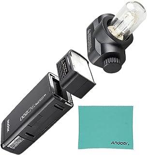【PSE認証取得】Godox AD200 ポケット TTL スピードライト フラッシュ ポータブル ミニ 2個ライトヘッド付き GN52 GN60 1 / 8000s HSS 2.4Gワイヤレス Xシステム 200W強力パワー Nikon Sony Canon EOSカメラ用 (Godox AD200) JPプラグ