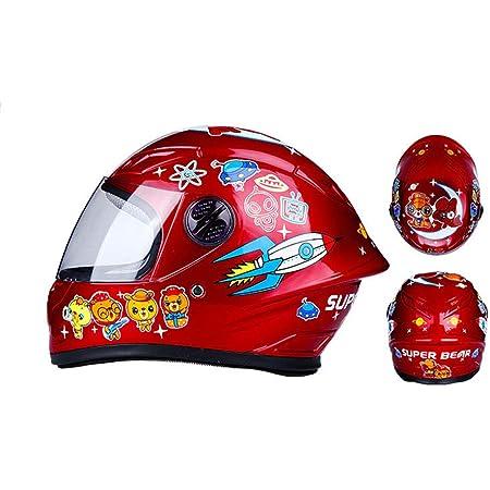 Wangxb Kinder Motorradhelm Fullface Helm Kids Fullface Helm Stoßfest High Density Abs Leicht Robust Antibakteriell Be Applicablealle Jahreszeiten Küche Haushalt