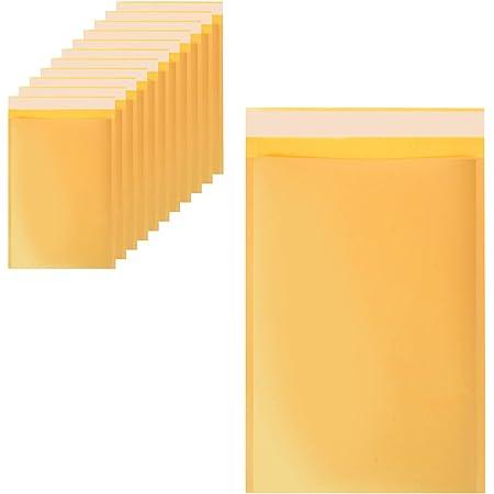 Uotyle Lot de 12 enveloppes à bulles dorées 18 x 13 cm