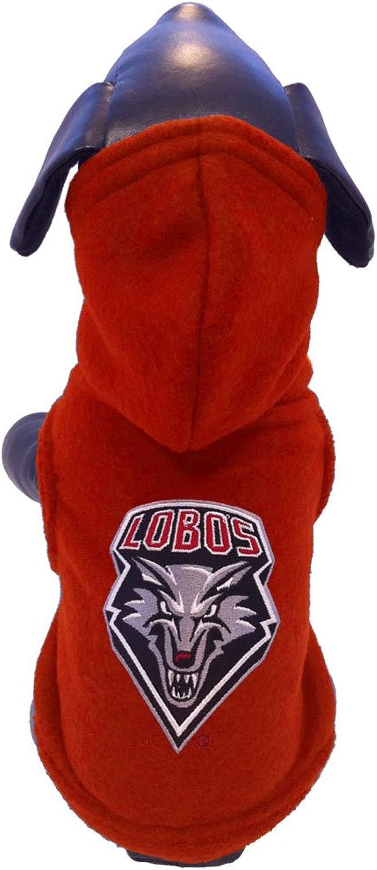 All Star Dogs New Mexico Lobos Polar Fleece Hooded Dog Jacket, Tiny