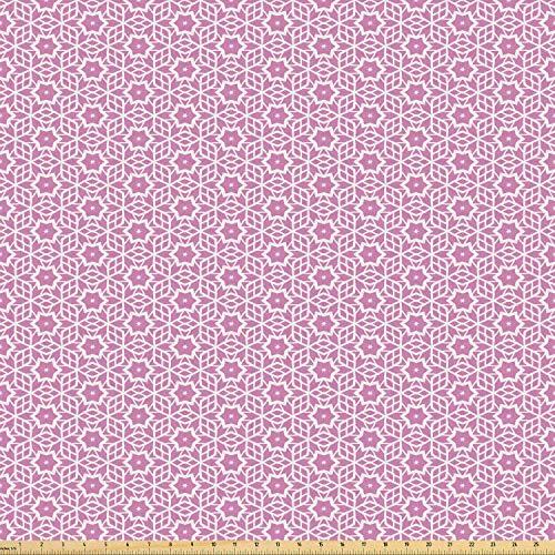 Juego de pegatinas decorativas para azulejos, diseño de flores y estrellas geométricas modernas en colores pastel femenino, rosa y 20,3 x 20,3 cm, vinilo adhesivo para suelo de baldosas de 12 unidades