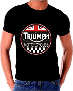 Triumph T Shirt Motorcycle Classic Old Vintage Tin Sign Art Short Sleeve