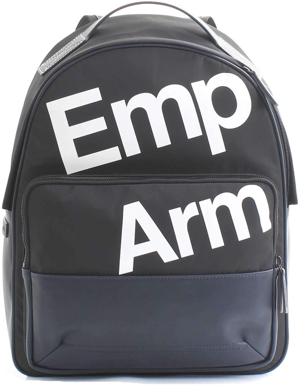 Emporio Armani men's Nylon rucksack backpack travel bluee