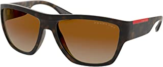 Prada Linea Rossa PRADA LINEA ROSA SPS 08V Matte Havana/Brown Shaded 59/16/135 men Sunglasses
