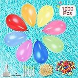 1000 Stück Wasserballons mit Nachfüll-Kits, umweltfreundliche Latex-Wasserbomben-Ballons für...