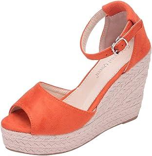 LILICAT Sandales Femmes Pas Cher,Femme Poissons Bouche Sandale Chaussures De Plage Talon Plate Printemps Été Bohême Shoes ...