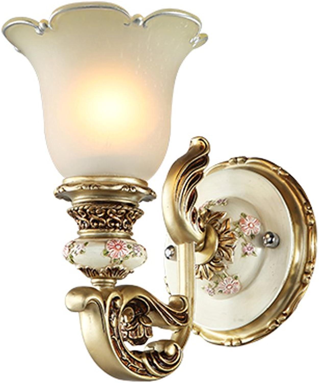 QFF European Style Resin Wand Lampe Schlafzimmer Nachttisch Lndlichen Wohnzimmer Hintergrund Wand Lichter Treppen Atmosphre Lichter ( gre    1 )