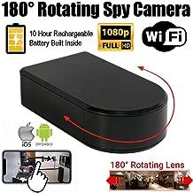 SecureGuard 180 Degree Battery Powered WiFi Black Box Spy Camera (1080P, 10 Hour Battery)