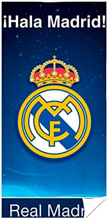Unbekannt Poncho Real Madrid rm171171/Bain Serviette Serviette de plage avec capuche 55/x 110/cm