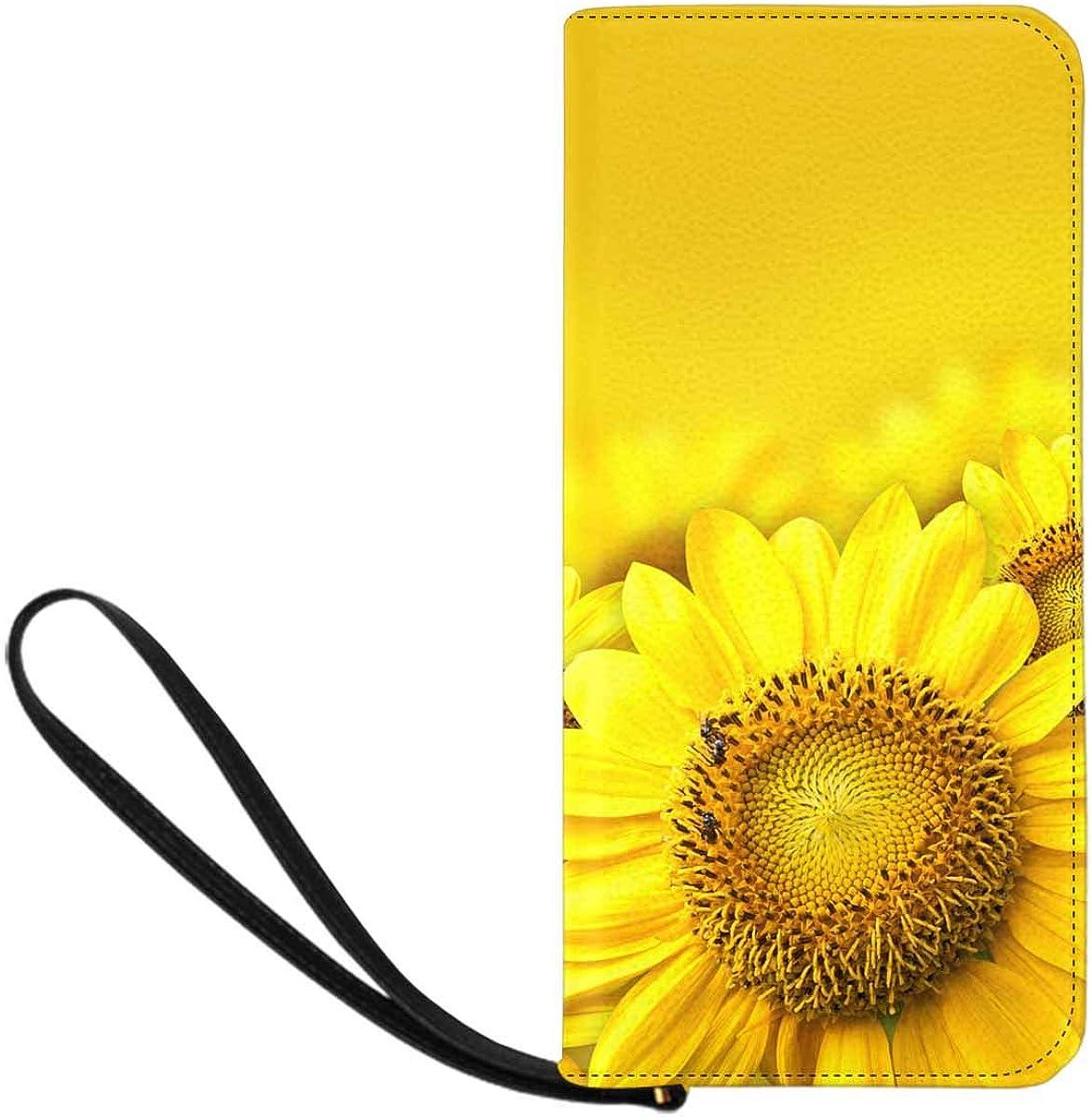 INTERESTPRINT Summer Sun over the Sunflower Field Clutch Purse for Women Evening Party