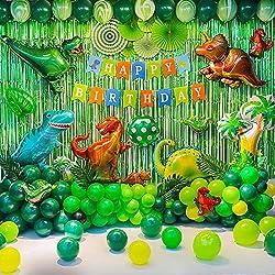 1. GoGoGoodie Dinosaur Birthday Party Decoration Set (92 Pcs)