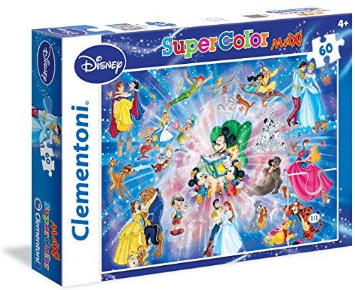 Disney- Puzzle 60 Maxi Piezas, Family, Multicolor, pezzi (Clementoni 26407)