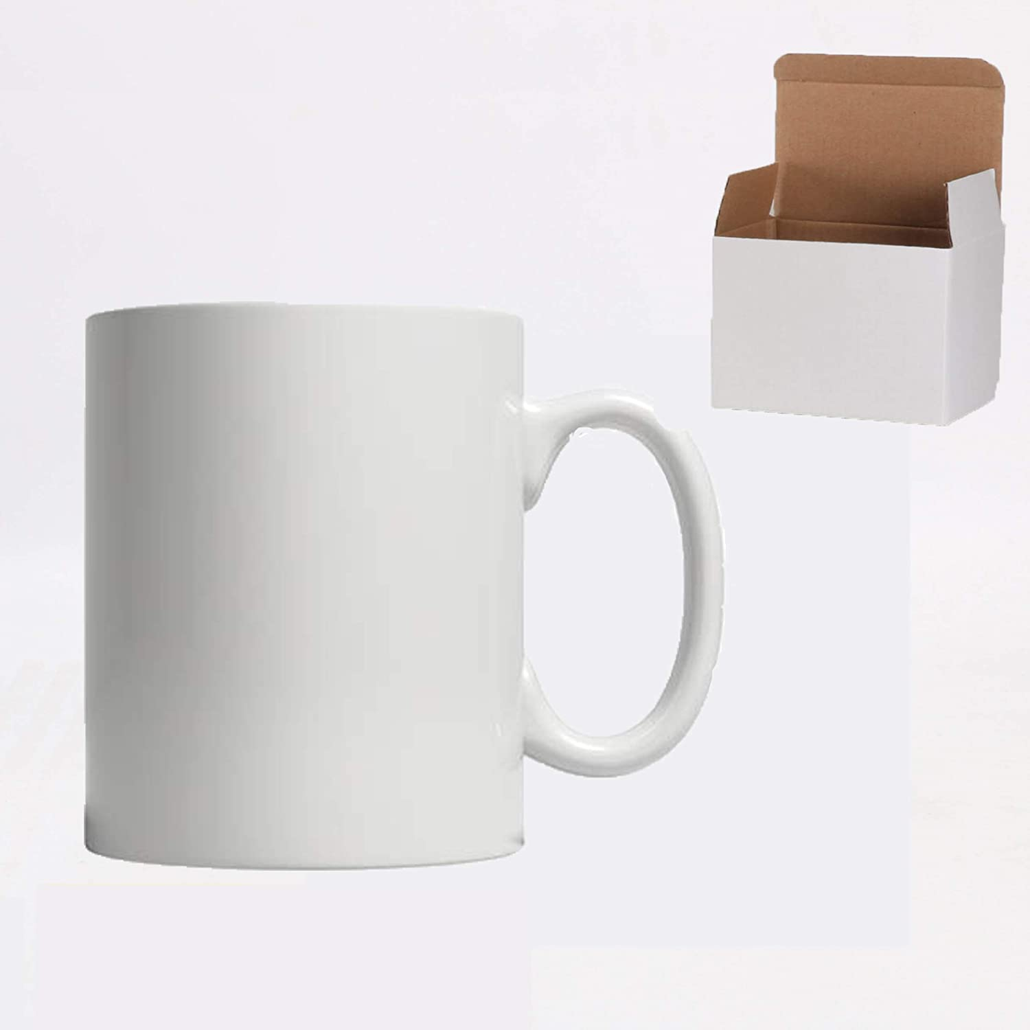 Ceramic 11oz Sublimation Coffee Max 50% OFF Mug in White Limited time trial price Packed Box