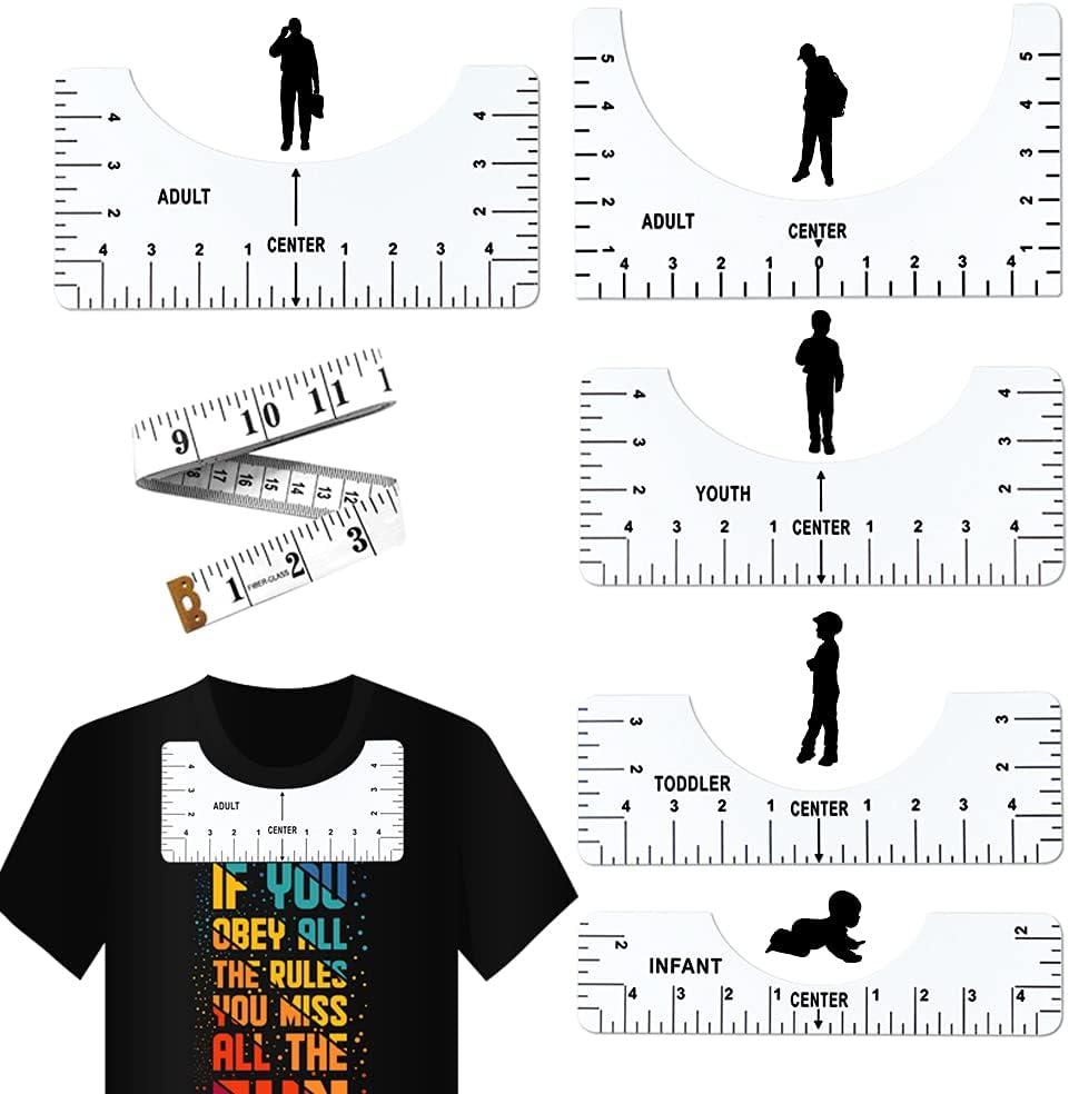 Max 88% OFF 6 Pcs T-Shirt Ruler Popular popular Guide Alignment Center Tool Designs Tshi to