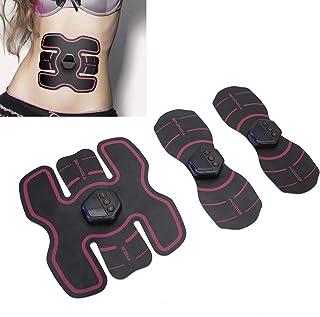 Entrenador abdominal EMS, estimulación muscular eléctrica USB con 10 niveles de intensidad, 20 modos de vibración, dispositivo de entrenamiento EMS para brazo, estómago y piernas