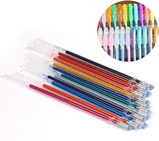 Selomore 48Pcs Gel Pens Gel Refills Rollerball Neon Glitter Pen Drawing Colors 60Ml