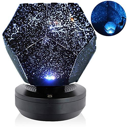 Proyector De Cielo Estrellado Led, Proyector De Galaxia De Luz Nocturna, Montaje De Bricolaje, Luz De Noche De Navidad, Adecuado para El Dormitorio De Los Niños,Azul,USB Models