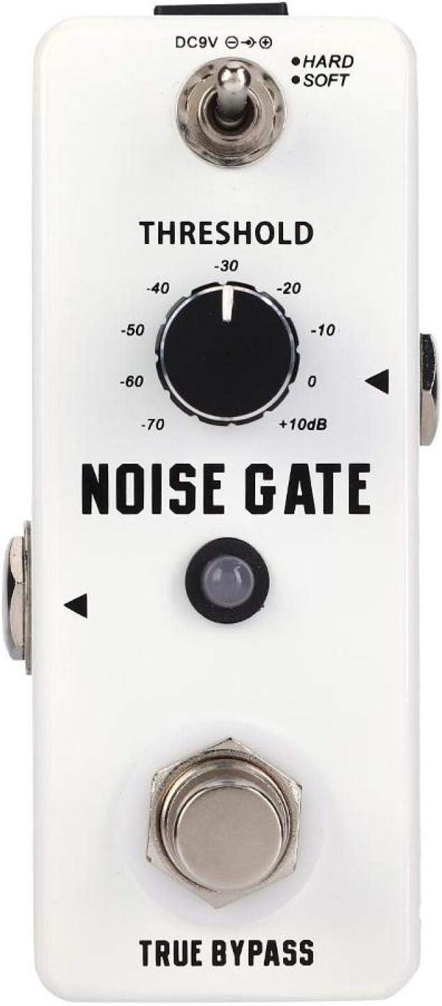 Pedal de efecto de carcasa de metal Puerta de ruido ajustable Pedal de efecto de guitarra Fácil de usar, o la mayoría de las guitarras y amplificadores, para guitarristas, para guitarristas