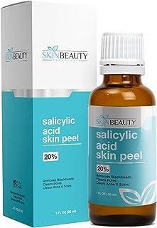 SALICYLIC Acid Peel 20% Chemical Peel with Beta Hydroxy BHA For Rosacea, Acne, Oily Skin, Blackheads, Whiteheads, Clogged ...