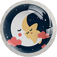 ATOMO 4 Stks Kabinet Knoppen voor Lade Dressoir Keuken Kasten Garderobe Badkamer Schattige Star Moon