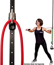Space Saver Gym Resistance Training Tool Wall Mount Anchor Home Office Gym Exercise Equipment Fitness – Adjustable Rail Car – Accommodates Most Elastic Tubing Resistance Bands Sets