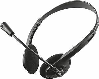 Trust Ziva - Auriculares con micrófono para ordenador, color negro