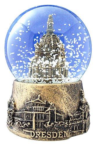 Schneekugel Dresden Frauenkirche gold