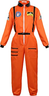 AOLAIYAOQU Halloween Costumes for Women Astronaut Costume Top Gun Flight Suit Adult Role Play