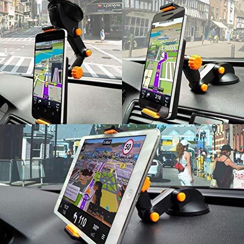 LXCN® Car Crane Mobile Tablet Holder Mount Stand for All Car Windshield Dashboard Mobile Tablet Use Size 4-11″ inch – (Black Y)