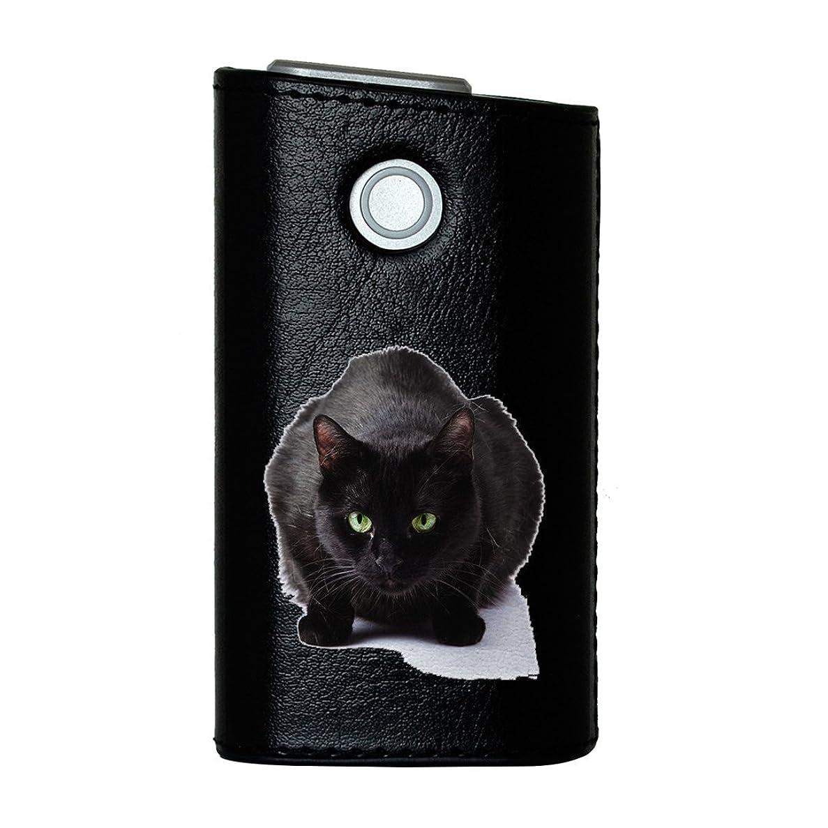 診断するそれに応じて平凡glo グロー グロウ 専用 レザーケース レザーカバー タバコ ケース カバー 合皮 ハードケース カバー 収納 デザイン 革 皮 BLACK ブラック 写真?風景 アニマル 写真 動物 ねこ 猫 005958