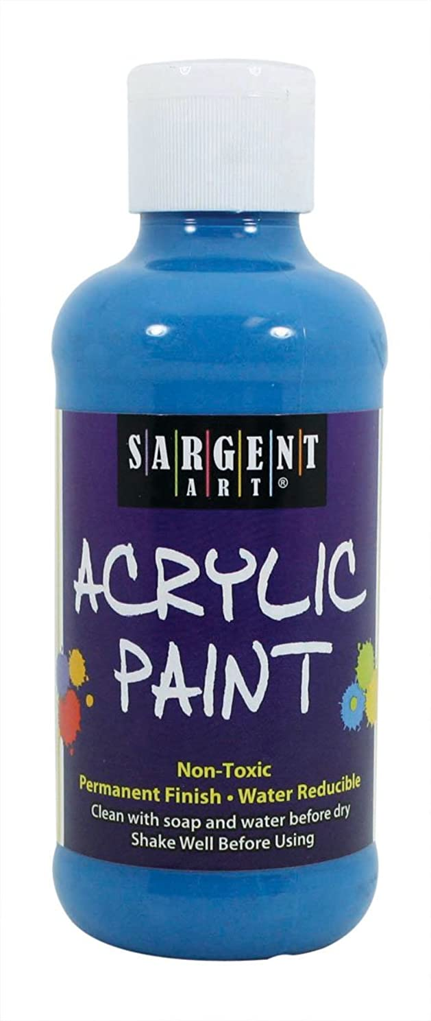 Sargent Art 22-2250 8-Ounce Fluorescent Acrylic Paint, Blue