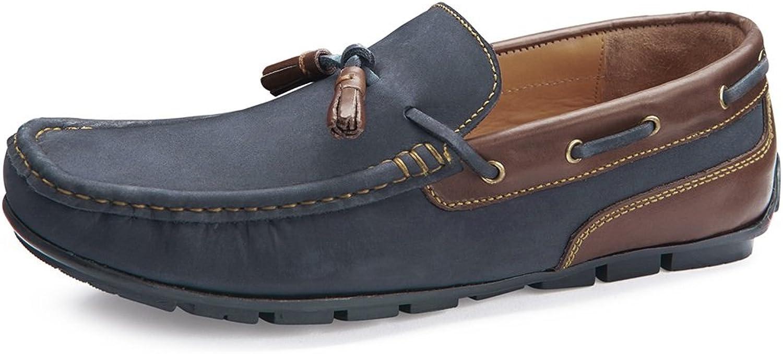 Samuel Windsor Men's Handmade Leather Classic Soft Slip-on Driving shoes in Light Brown, Navy & Brown